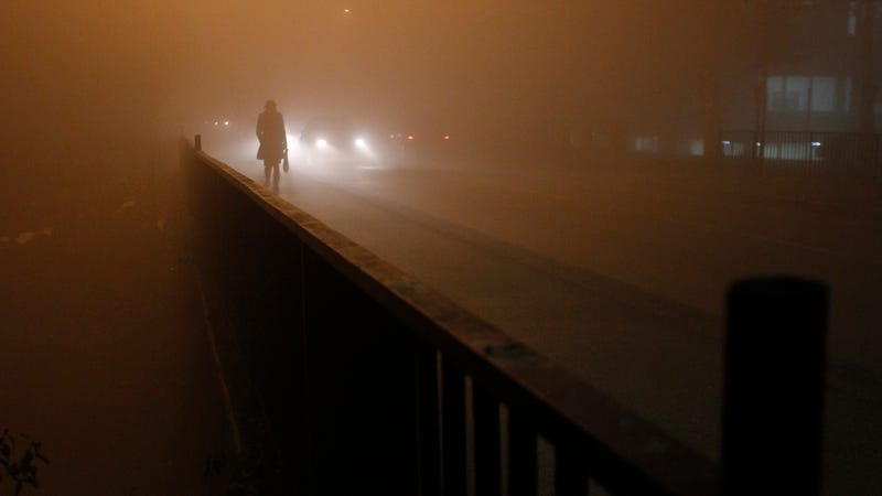 A heavy smog day in Bosnia in 2013.