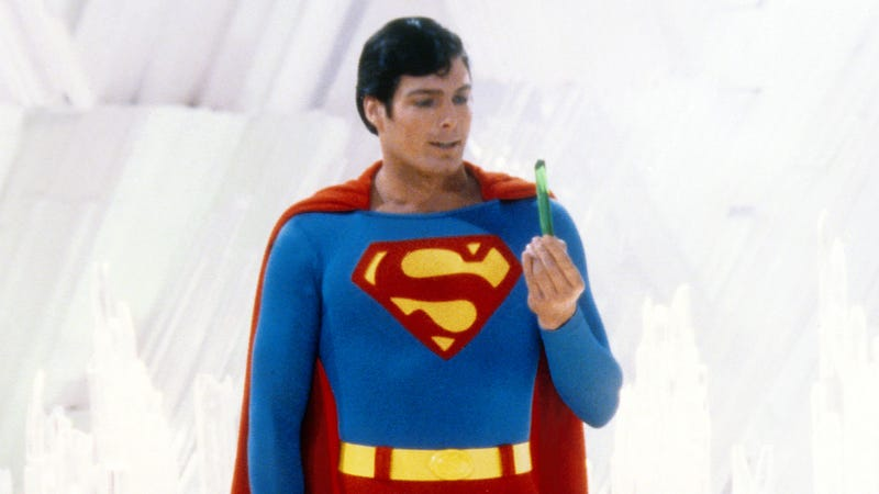 Christopher Reeve in a promo shot for Superman