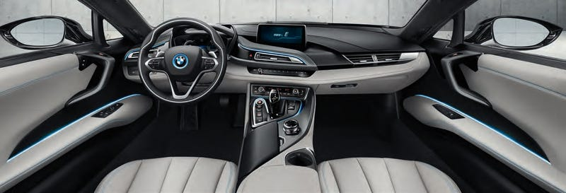 """Illustration for article titled BMW i8:""""You can have any interior as long as it's grey"""""""