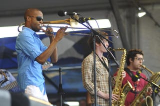 Trombone Shorty performs. (Getty Images)