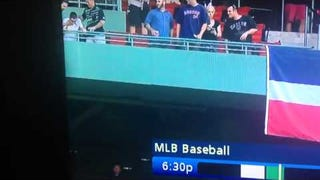 Red Sox Fan Pukes All Over People Below Him
