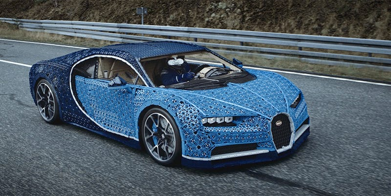 Marvel At This Drivable Bugatti Chiron Built From a Million Pieces ...