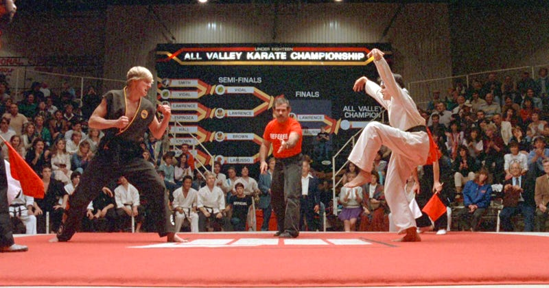 Johnny and Daniel are back in Cobra Kai. Image: Columbia Pictures