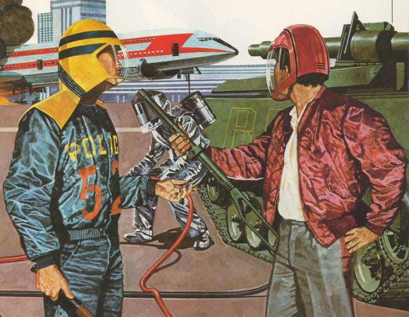 Illustration for article titled This Is What American Police of the Future Were Supposed to Look Like