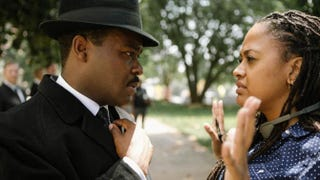 David Oyelowo as Selma's Martin Luther King Jr. talks to director Ava DuVernay.Courtesy of Paramout Pictures