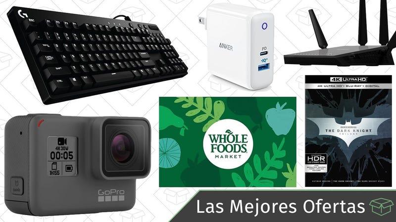 Illustration for article titled Las mejores ofertas de este lunes: Gadgets en Amazon, cargadores UBS-C, Whole Foods y más