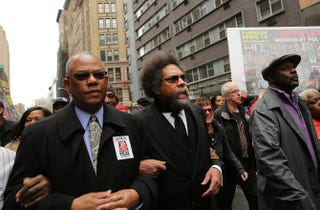 Science Essay Topic Activist And Scholar Cornel West Center Joins Protesters Against Police  Violence In New York City April   A Coalition Of Antipolice  Violence And  Essay Papers For Sale also Topics For High School Essays Dysons Cornel West Essay Was A Hit Piece Wrapped In Scholarly Words How To Make A Good Thesis Statement For An Essay