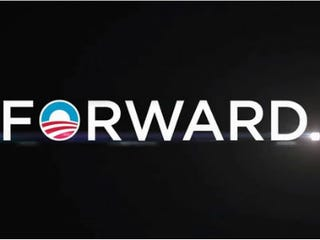Illustration for article titled Obama's New Campaign Slogan: 'Forward'