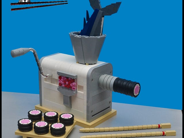 I wish making sushi was as easy as this Lego machine makes it look