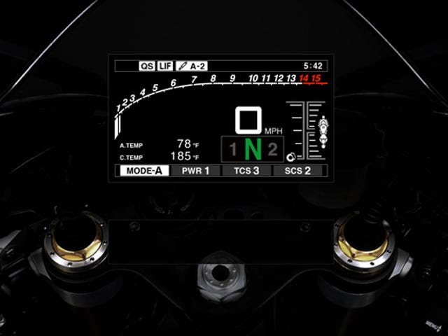 Check out the 2015 Yamaha R1 and R1M Online Meter Simulator