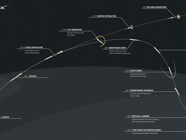 कोमो इरादे होय SpaceX एल एटर्रीजाजे डेल कोटे फाल्कन 9