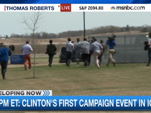 Desperate Reporters Chase Pagkatapos Sweet Van Hillary Clinton ni