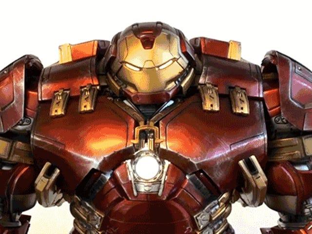 Denna Four-Foot Tall Animated Iron Man Hulkbuster Figur är ett mästerverk