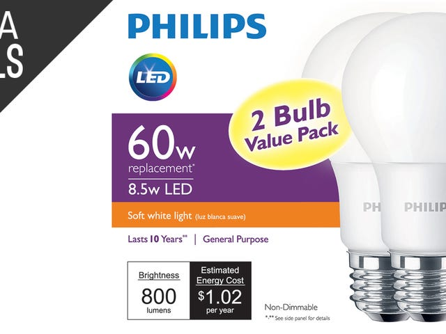 Philips' Insane 2-For-$5 LED Bulb Sale Just Went Live