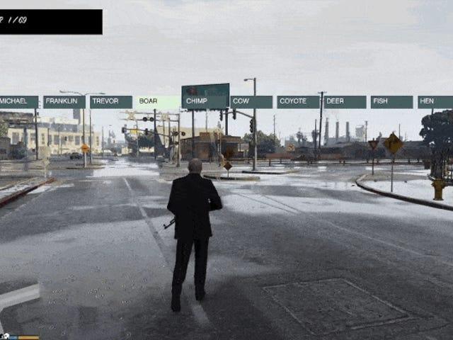Jouer <i>GTA V</i> comme un cerf dans Rainy Los Santos en utilisant un nouveau PC Mod