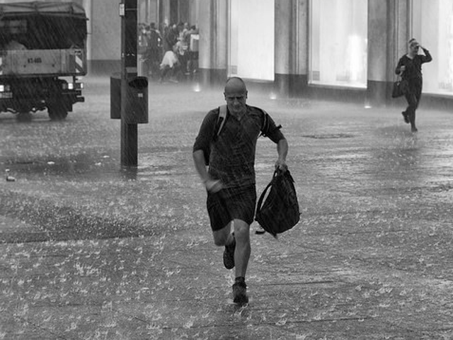 Wear a Baseball Cap and a Non-Running Jacket to Run in the Rain