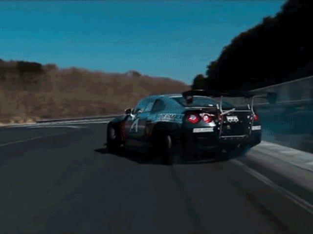 Este es un Nissan GT-R Drift de 1000 caballos de fuerza