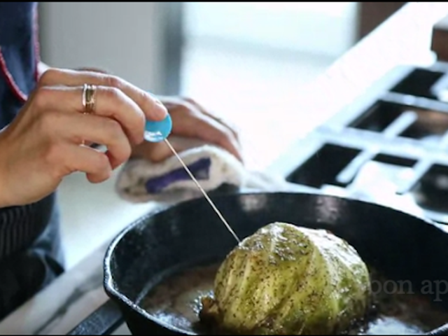 Test Your Cabbage Head's Doneness with a Cake Tester