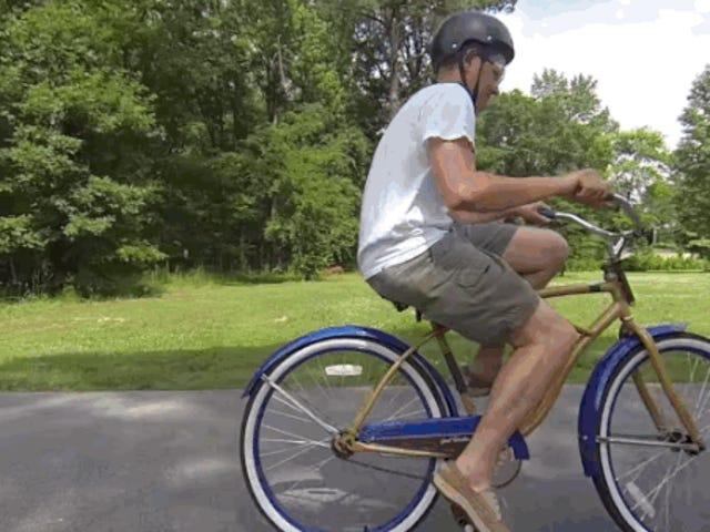 क्या आप पीछे की ब्रेन बाइक की सवारी कर सकते हैं?
