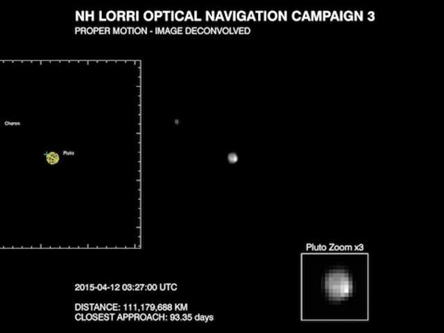 La sonda New Horizons toma la primera tưởng tượng de la superficie de Plutón
