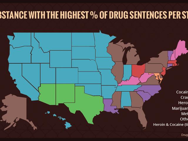Tout ce que vous devez savoir sur les taux d'incarcération de drogue aux États-Unis
