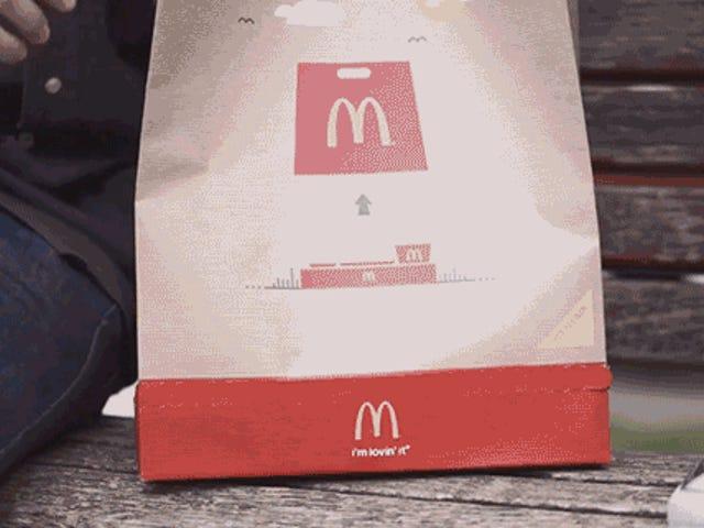McDonald's Mencipta Beg Takeout yang Mengubah Ke Dulang Serving