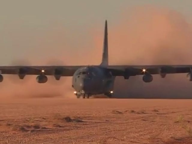 A C-130 Is Happy To Deliver A Huge Rocket Launcher Just About Anywhere