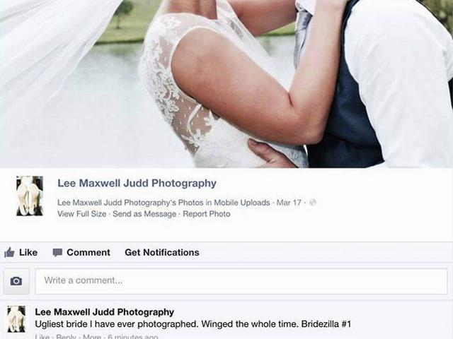 'Ugliest Bride Ever': Wedding Photographer Insults Client op Facebook