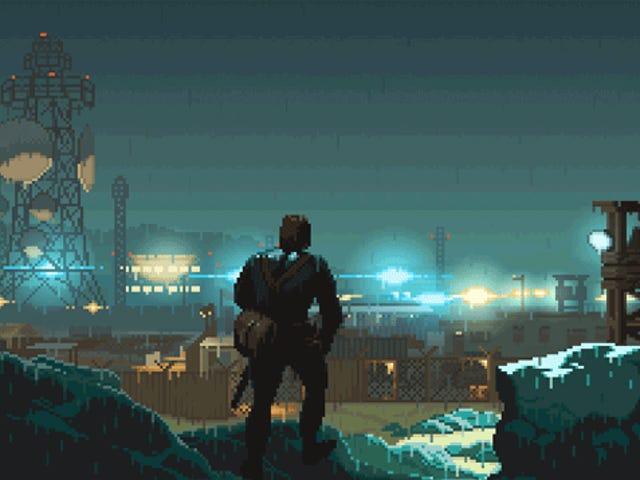 Snake está prestes a se infiltrar no acampamento Omega na bela recriação de mim do artista de pixel Catherine