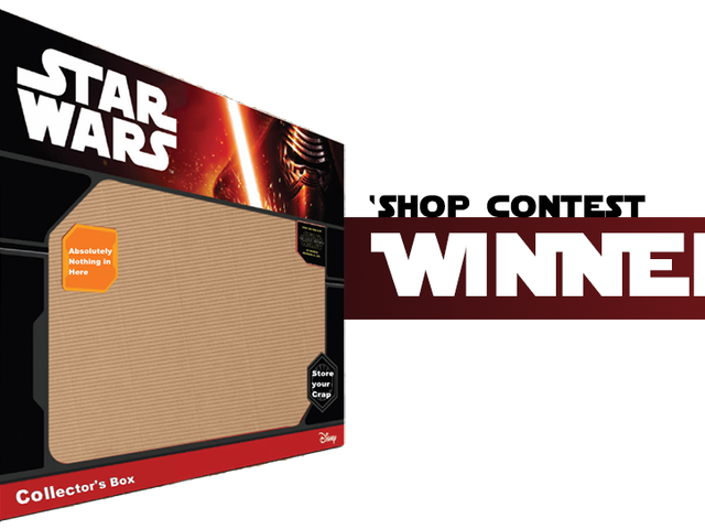 <i>Kotaku</i> &#39;Shop Contest: <i>The Force Awakens</i> Stuff: Vindere!