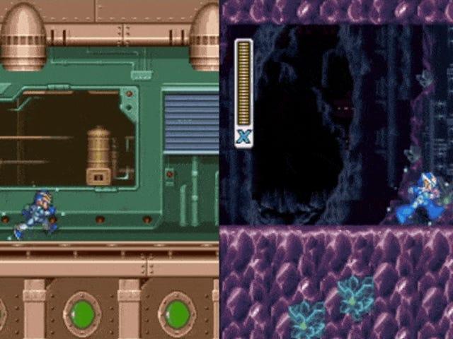ゲーマーが<i>Mega Man X</i>と<i>X2</i>一緒に破った...同じコントローラーを使って