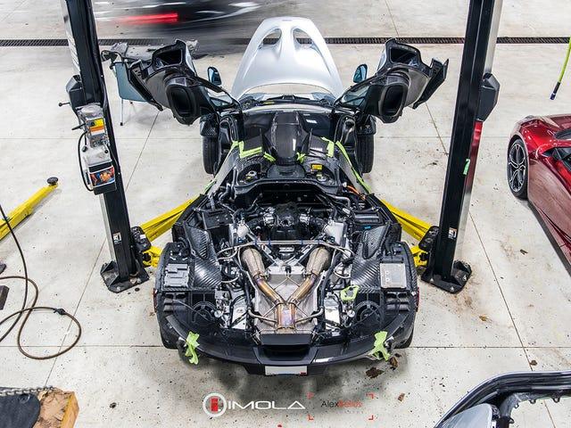 McLaren P1 som du aldrig sett det förut: tagit isär