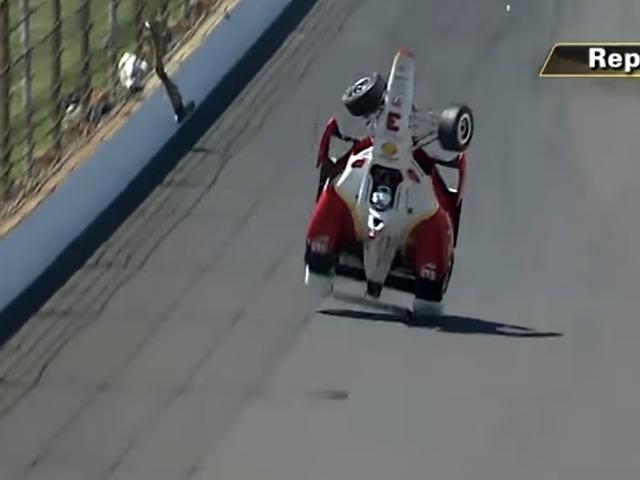 Spin führt zu furchterregendem Salto in der Luft im Indy 500-Training