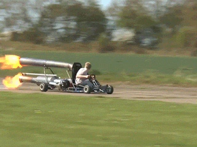 This jet-powered go kart is basically a fire breathing monster on wheels