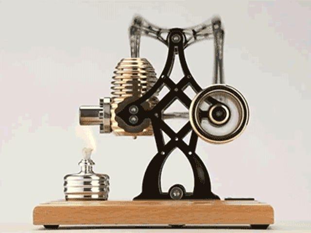 Побудуйте цей латунний двигун Стірлінга, щоб зацікавити вас на роботі