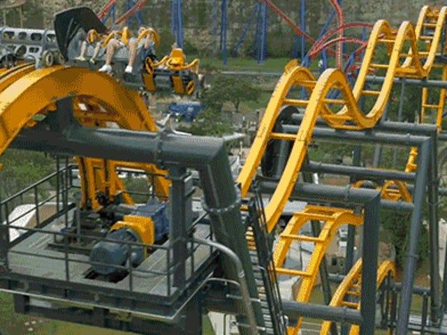 Six Flags的新4D蝙蝠侠过山车看起来像一个超级有趣的呕吐工厂