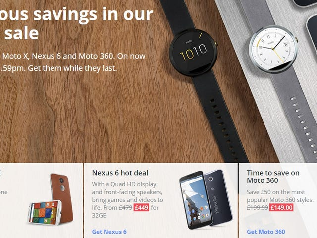 Friendly Notice: Motorola sale for those in the UK/France (Updated!)