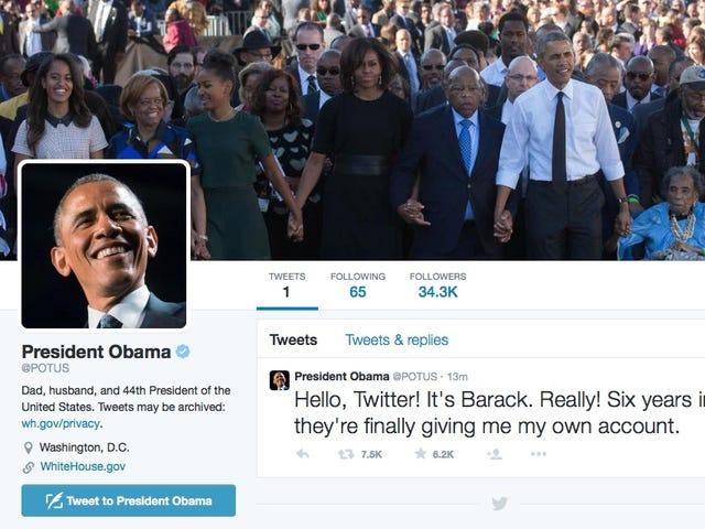 """""""Ia adalah Barack. Benar!""""  Obama Akhirnya Bergabung dengan Twitter di @OTOT"""