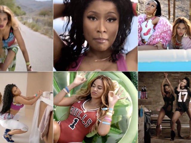 Beyoncé and Nicki Minaj Caress, Share Candy In 'Feeling Myself' Video