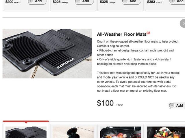 Hvilket selskap tilbyr de dyreste gulvmatter?