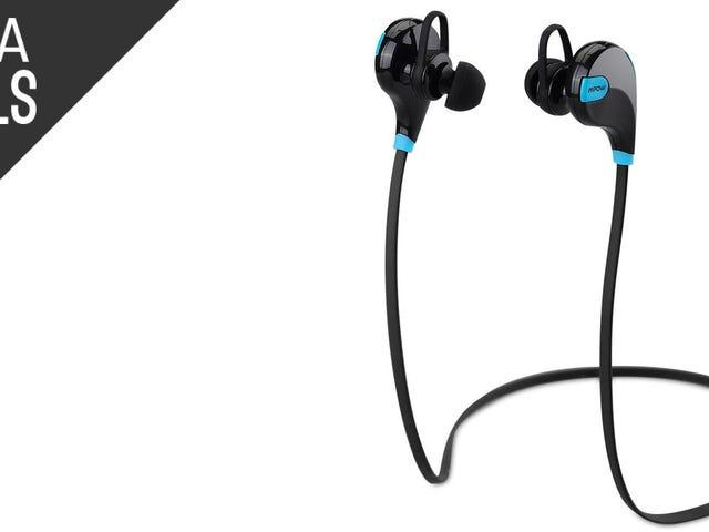 Skær ledningen på din næste jog med disse $ 22 Bluetooth ørepropper