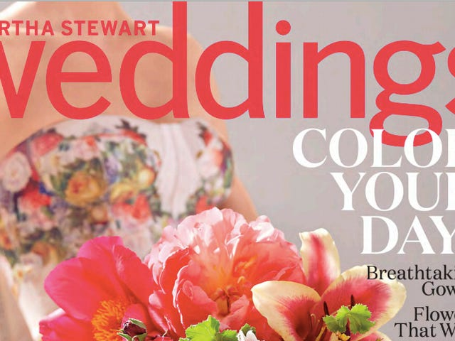 5 cosas insanas de Martha Stewart Weddings Magazine, primavera de 2015