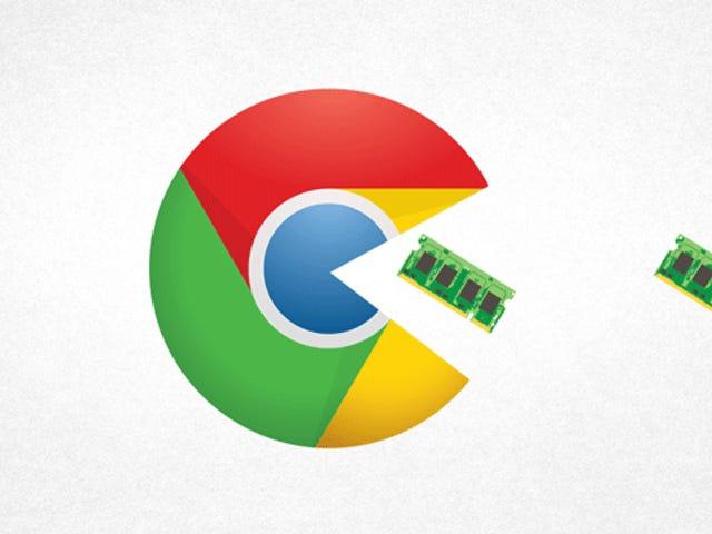 Por ché Chrome förbrukar tanta maldita memoria RAM