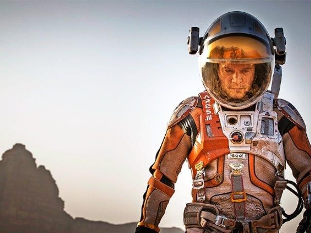 Primárias imagens de Matt Damon na película The Martian