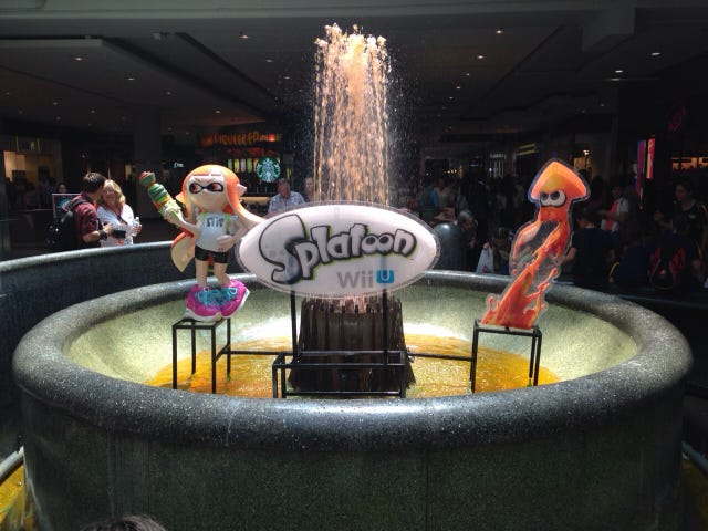The Hype for Splatoon is so big, that the game made the jump into real life!