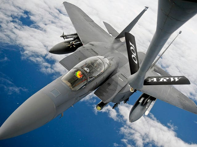 UK Based F-15Es Flew A Secret Long-Range Mission Over Africa On Monday