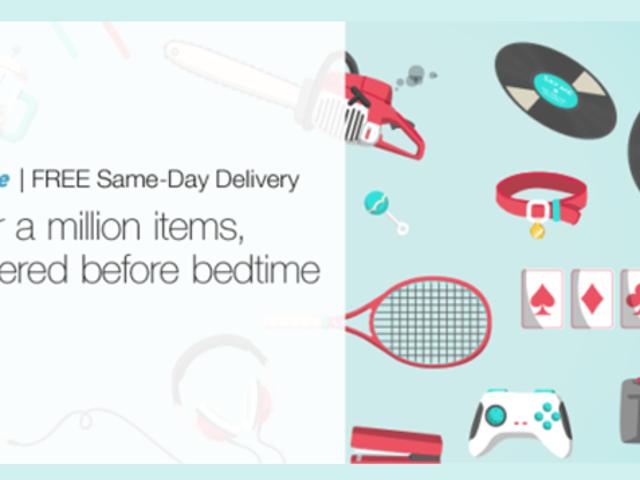 Amazon tilbyr nå gratis samme levering samme dag for Amazon Prime-medlemmer