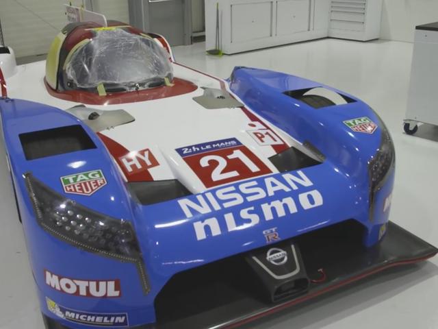Nissan Channels Deras inre 90-talet barn med en grupp C Livery för Le Mans