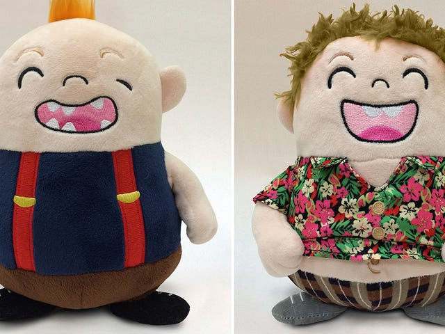 <i>The Goonies'</i> paresse et le morceau de <i>The Goonies'</i> forment une adorable paire de jouets en peluche