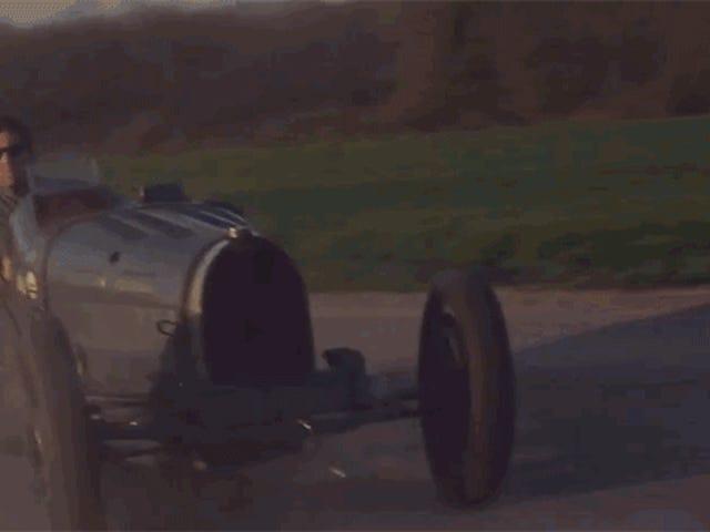 Quand la conduite d'une vieille Bugattis devient naturelle